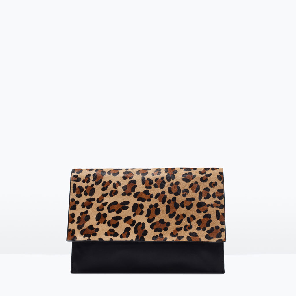 Zara Animal Print Clutch