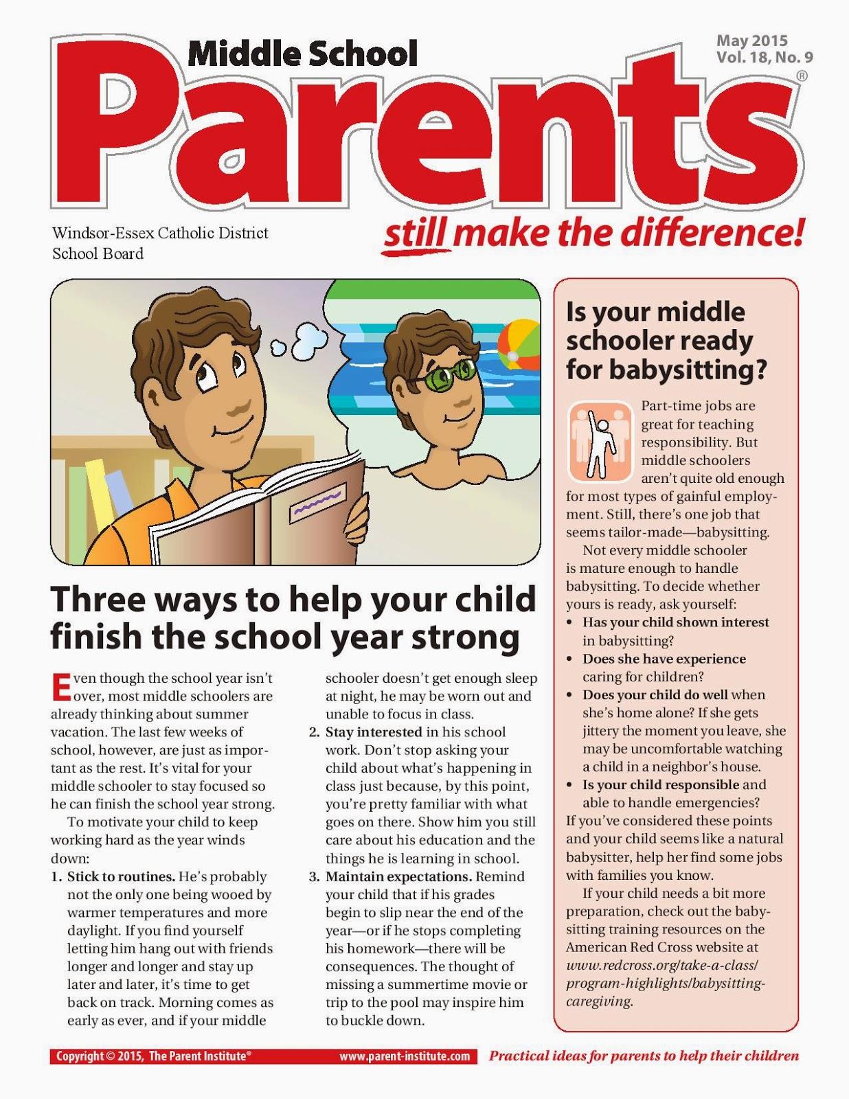 elementary school newsletters