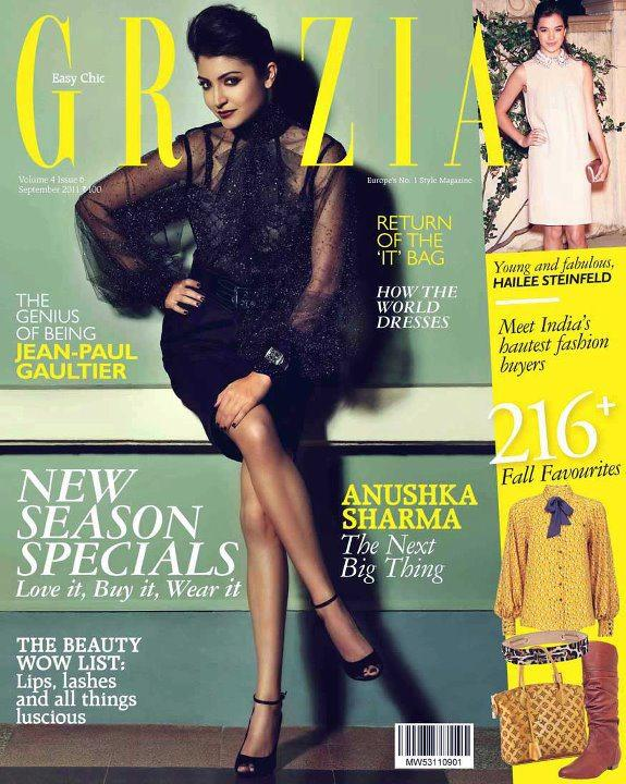 Anushka Sharma Grazia Cover - Anushka Sharma Grazia Magazine Cover Sept 2011 Edition