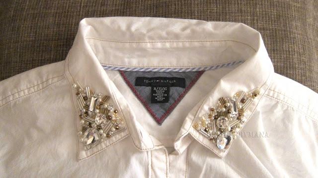 White Embellished Shirt