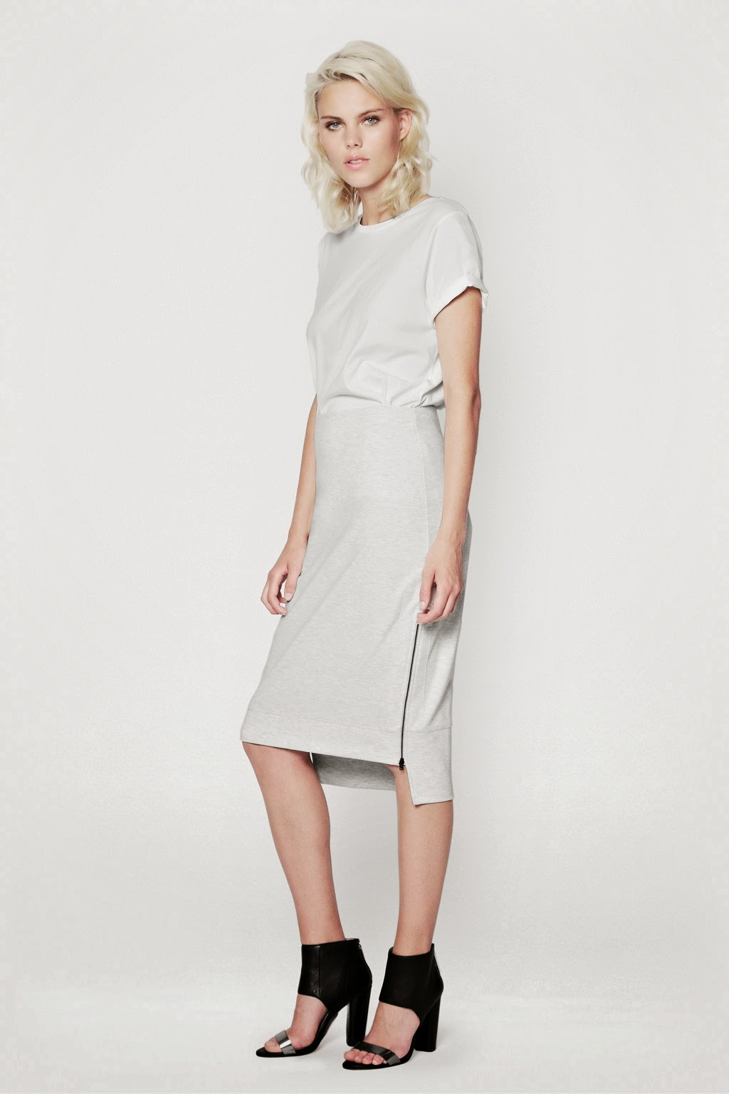 french connection grey skirt