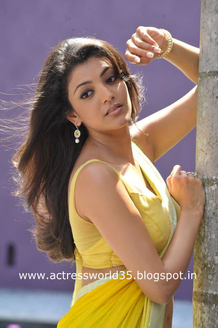 Kajal Agarwal Sexy Saree Pics Hoty Photos Wallpapers
