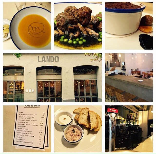 restaurante barcelona lando barrio sant antoni menú comida cena magica bcn