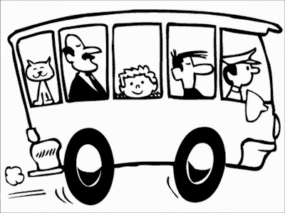 free printable bus coloring pages