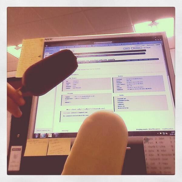 Magnum Ice Creams at a Computer Desk