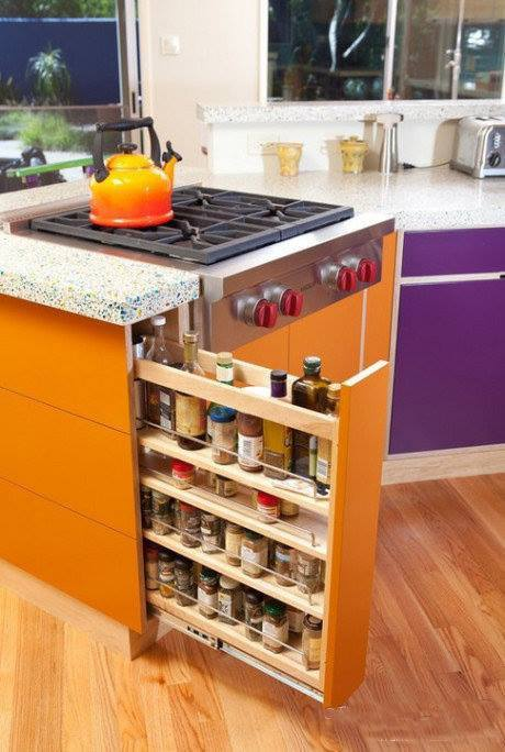Nice Kitchen Storage Idea Wouldnu0027t Put That Next To An Oven Though Because  The Heat Would Alter The Spices And Oils