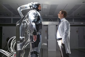 Joel Kinnaman y Gary Oldman en RoboCop