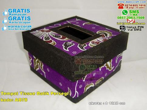Tempat Tissue Batik Persegi