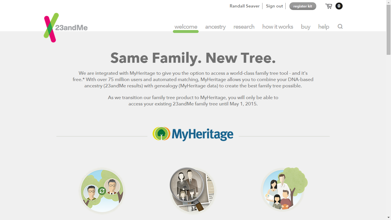 Switching my 23andMe Family Tree to MyHeritage
