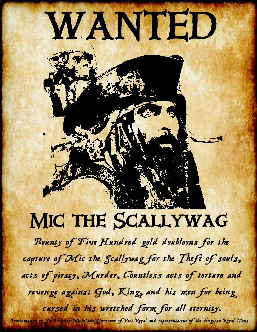 Mutiny magazine news may 2012 for Wanted pirate poster template