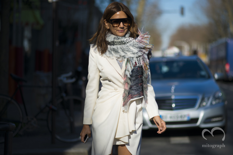 Vogue Australia Editor in chief Christine Centenera leaves KENZO show during Paris Fashion Week 2014 Fall Winter PFW