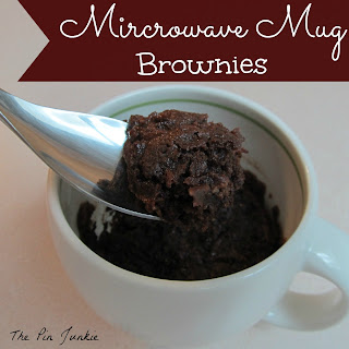 microwave mug brownies
