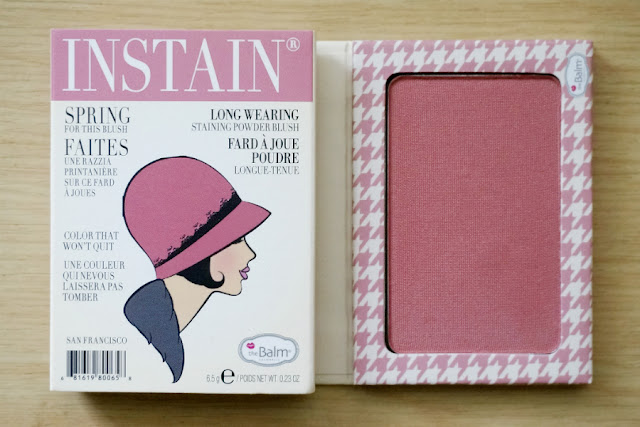 theBalm Instain Long-Wearing Powder Staining Blush in Houndstooth