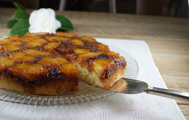 Ingredients and Directions for Caramelized Pineapple Upside-Down Cake