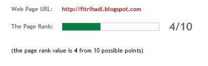 pagerank fitrihadi blogspot