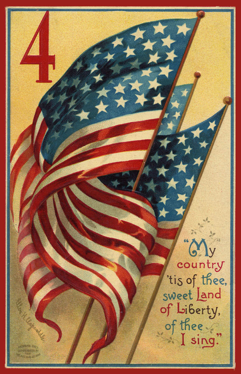 Born On The 4th Of July Cards Zunky Chic (zuh...