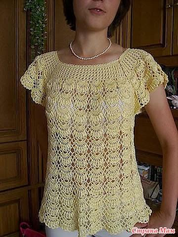 Manitas hiperactivas y mágicas: Blusas crochet con esquemas
