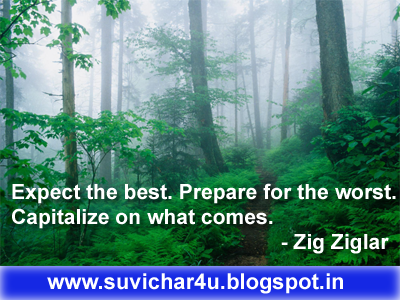 Expect the best. Prepare for the worst. Capitalize on what comes.