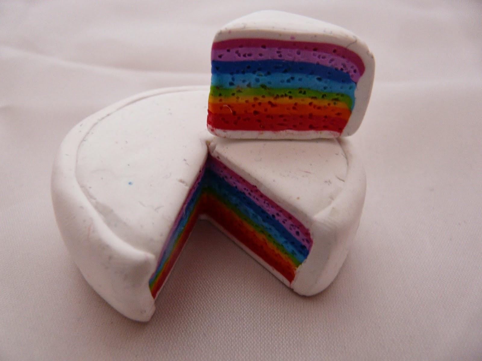 les cr as tutos tuto fimo comment faire un rainbow cake. Black Bedroom Furniture Sets. Home Design Ideas