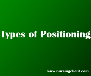 types of position in positioning the client