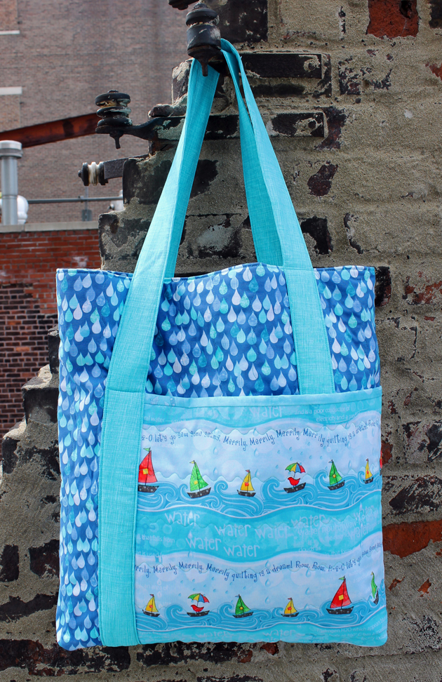 Row By Row H2O tote bag , free pattern at Timeless Treasures Fabrics