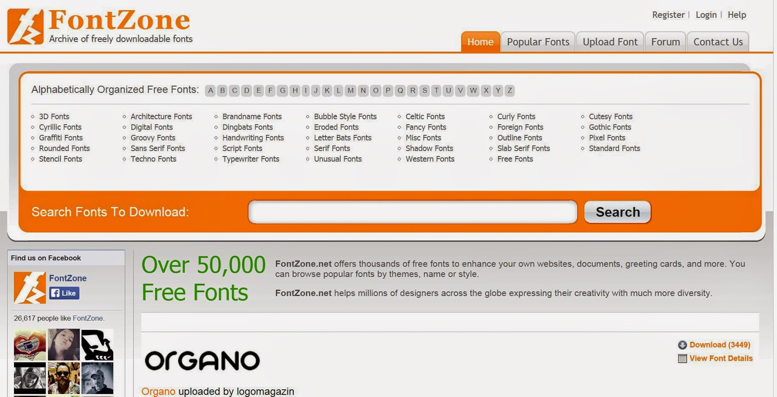 50.000 Fonts Gratis da scaricare: Free Font Zone