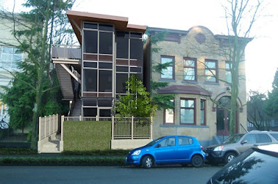 Multi Shipping Container Home, - Atira Women's Resource, - Alexander Street, Vancouver, Canada,