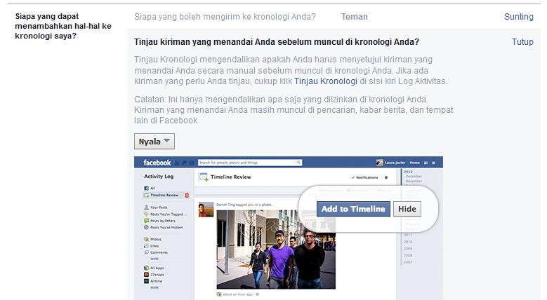 Cara Agar Kita Tidak Bisa Ditandai Teman Facebook