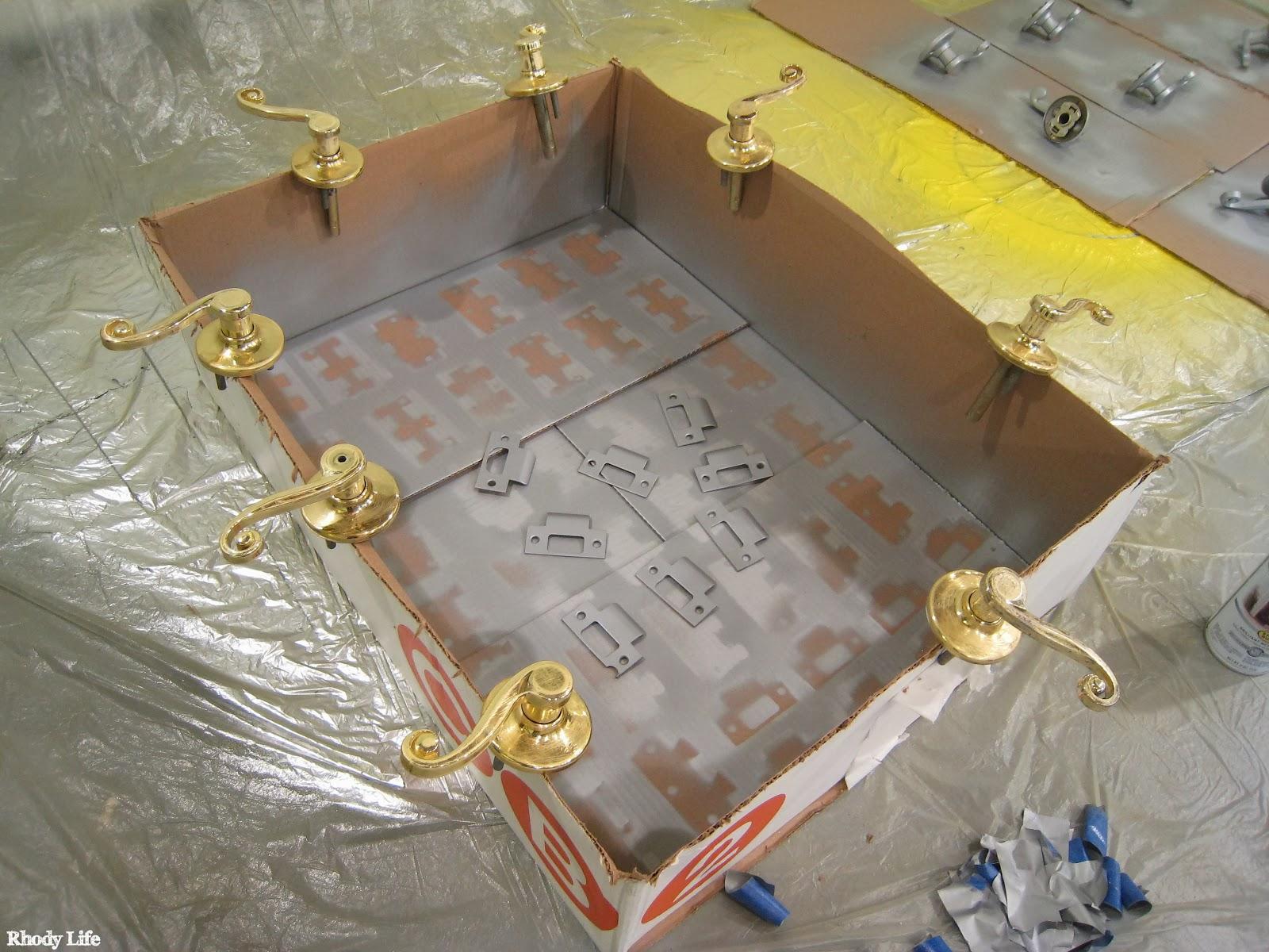 Painting Brass Hardware