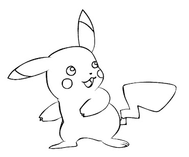 #15 Pikachu Coloring Page