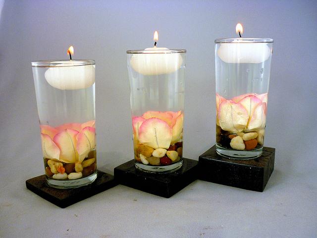 centros de mesa para bautizos con velas parte 3