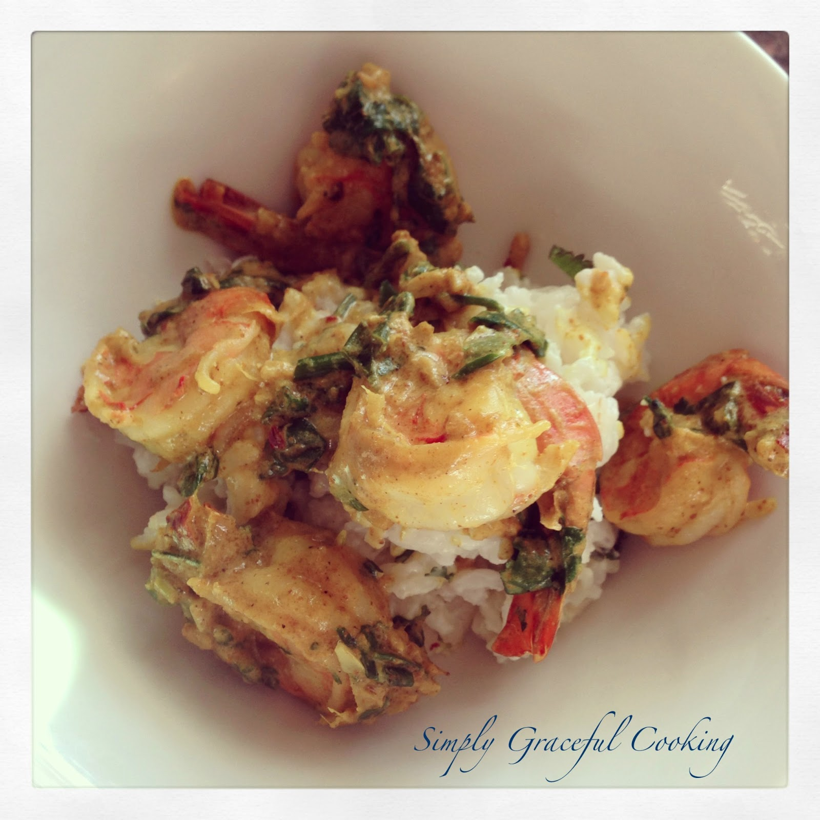 Simply Graceful : Coconut Curried Shrimp with Coconut Rice