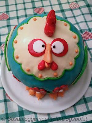 torta pollo cake design semifreddo nocciola vaniglia caffè bisquit ricetta cosa blogga in pentolacosabloggainpentola