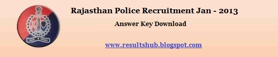 Rajasthan Police Recruitment 2013 Answer Key Download