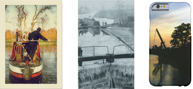 Digital paintings and vintage canal photos