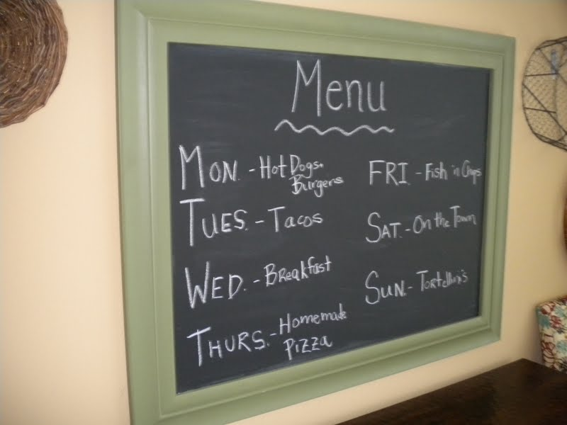 Sunshine on the Inside: Oil Drip Pan Chalkboards!