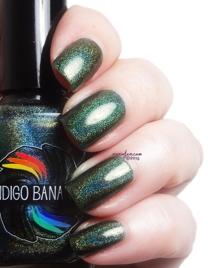 xoxoJen's swatch of Indigo Bananas Olive Time and Space
