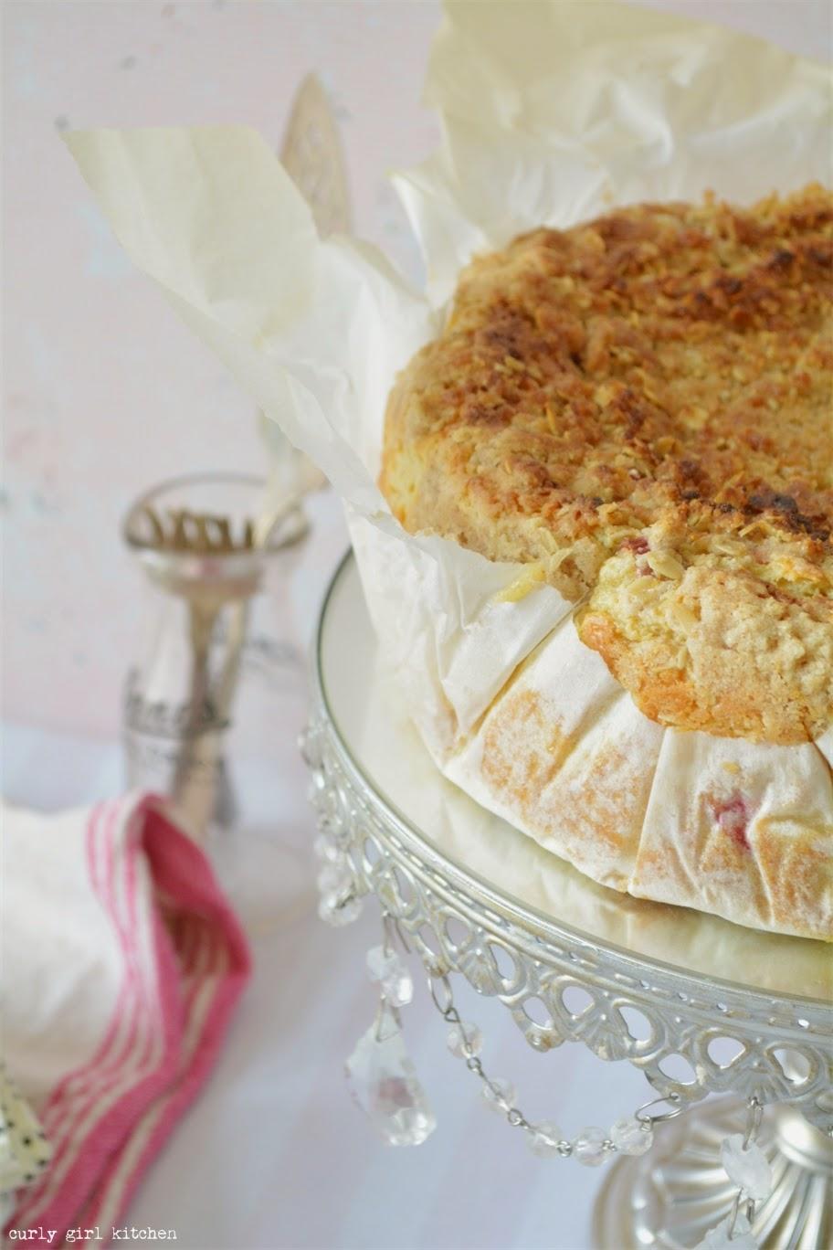 Rhubarb Coffee Cake No Sour Cream