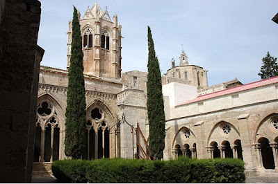Gothic cloister of the monastery of Vallbona de les Monges