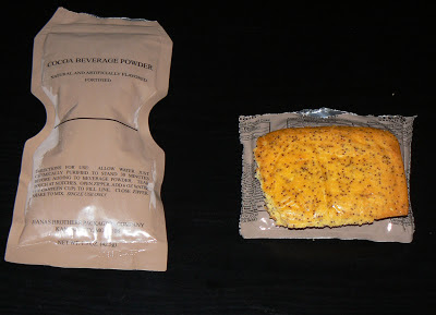 MRE Review: Menu 19, poppy seed pound cake