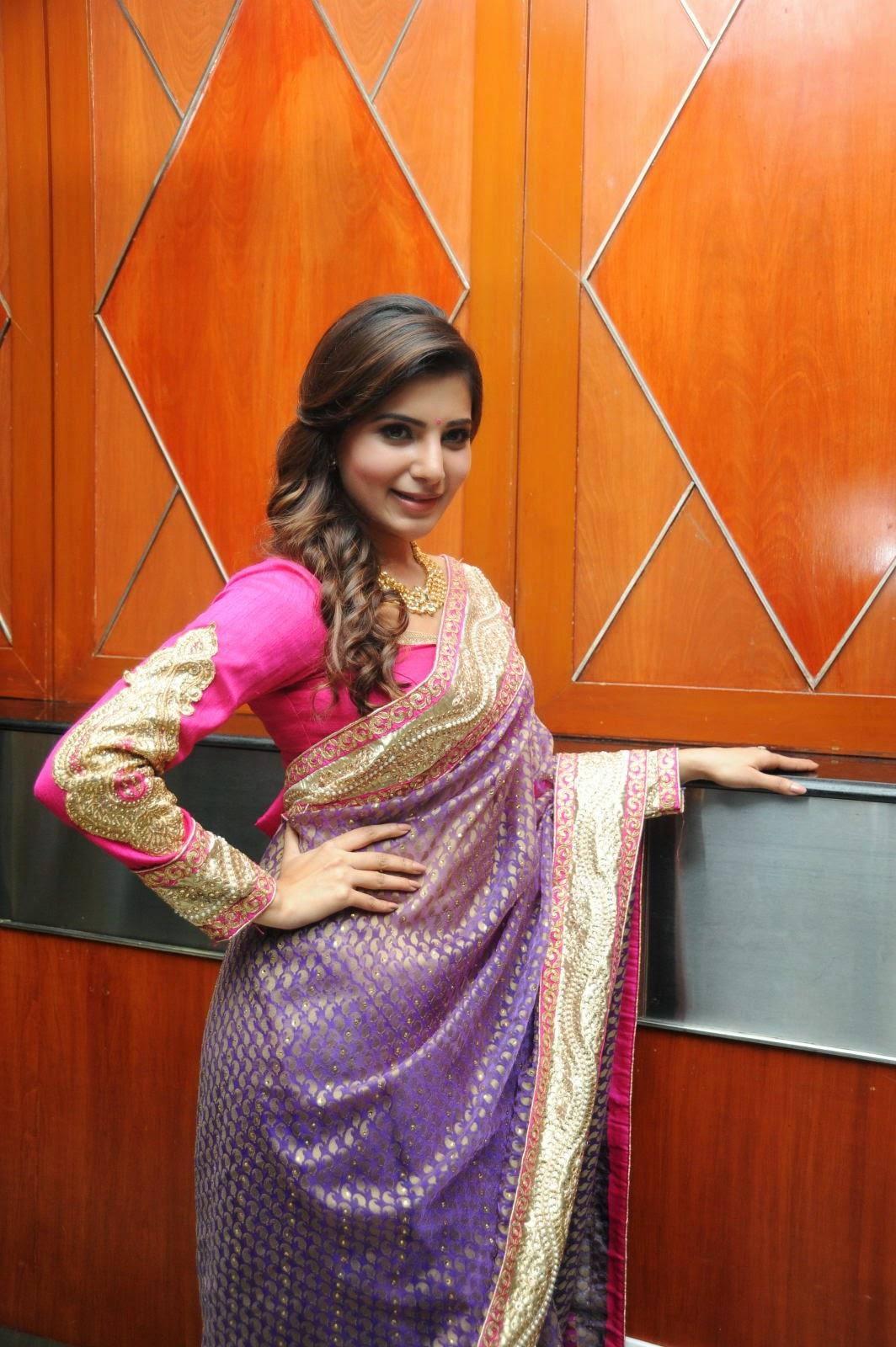 Samantha gorgeous photos in saree-HQ-Photo-15
