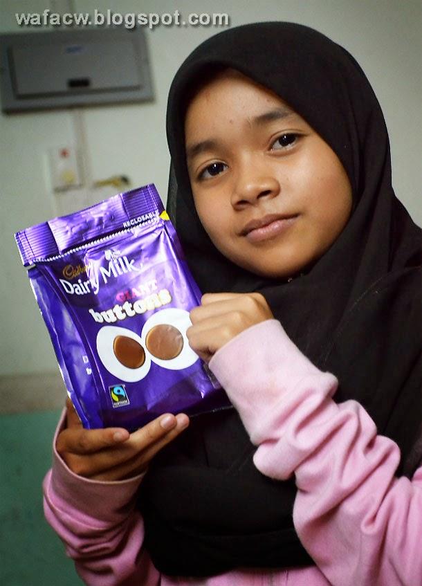 Annur Tasnim and her Cadbury Chocolate Button
