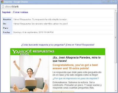ventana emergente correo electrónico yahoo