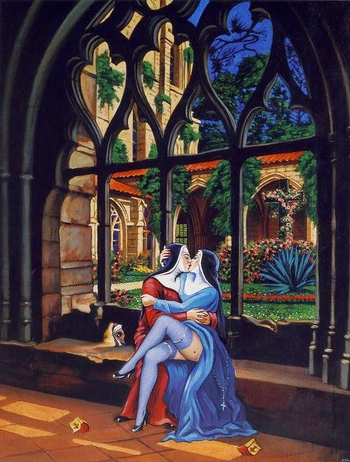 """""""O amor que não ousa dizer o nome"""" Oscar Wilde (1854-1900). Elas são as diletas da madre superiora"""