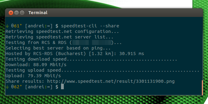 speedtest-cli ubuntu
