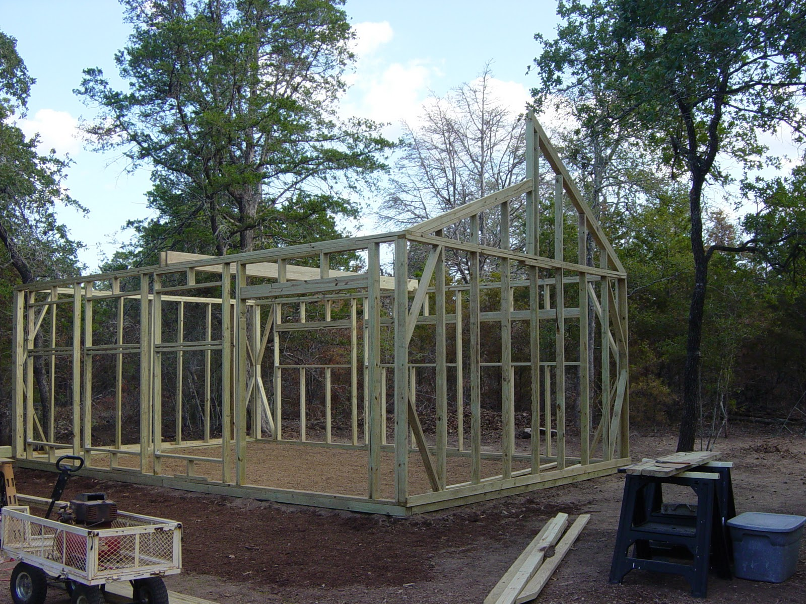 Garden ally greenhouse build week one for Clerestory roof truss design