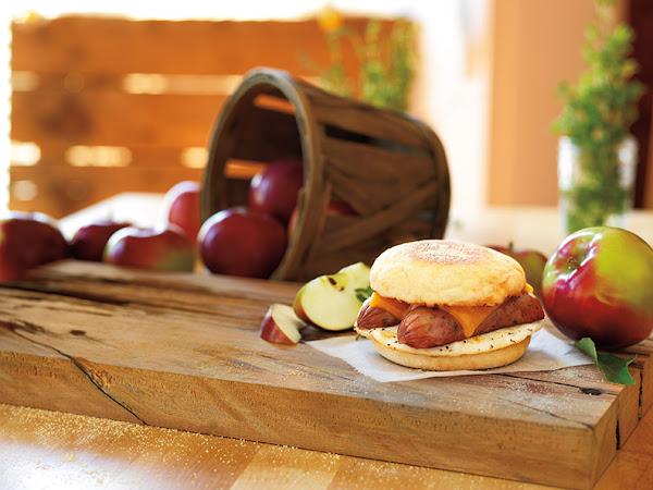 Dunkin' Donuts Chicken Apple Sausage Breakfast Sandwich (+Giveaway)