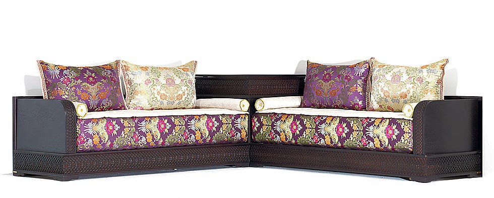 Fantastique artisanat le salon marocain design moderne for Les canapes marocains