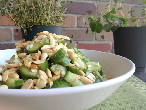 What Grace Cooked: Meatless Mondays: Cucumber and Peanut Salad