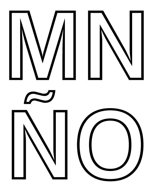 Moldes de letras abecedario grandes - Imagui